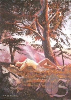 Beneath the Cedars - Original Watercolor