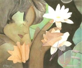 Dreaming of Lilies - Original Watercolor