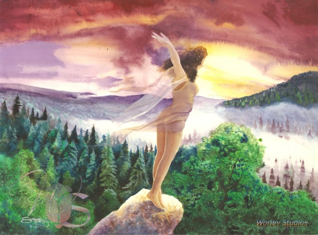 """The Wind-Weaver"" Original Watercolor by Samuel Worley"