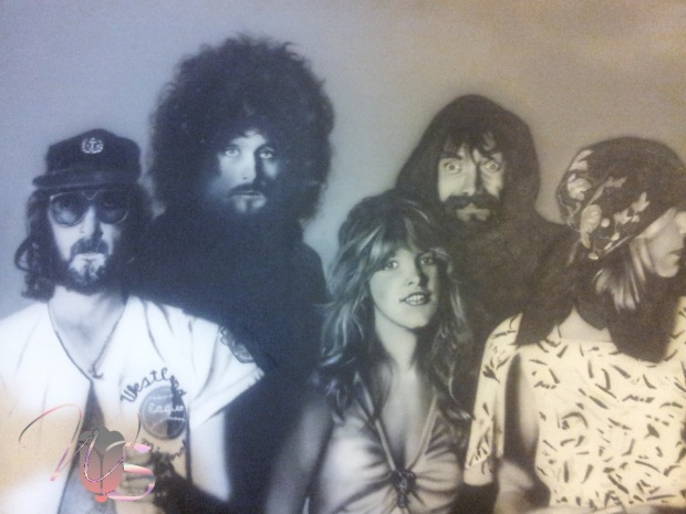 Airbrush Mural Painting of Fleetwood Mac Rumors by Sam Worley - Worley Studios