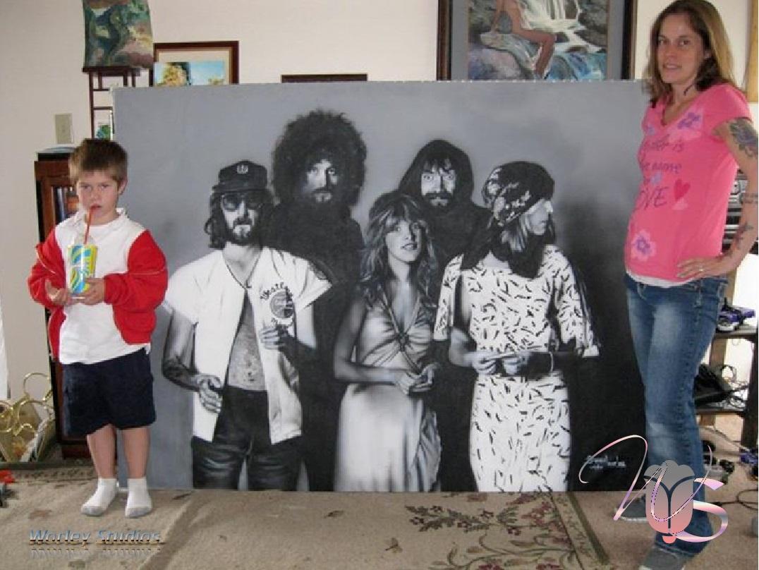 Airbrush Mural Painting of Fleetwood Mac –Rumors