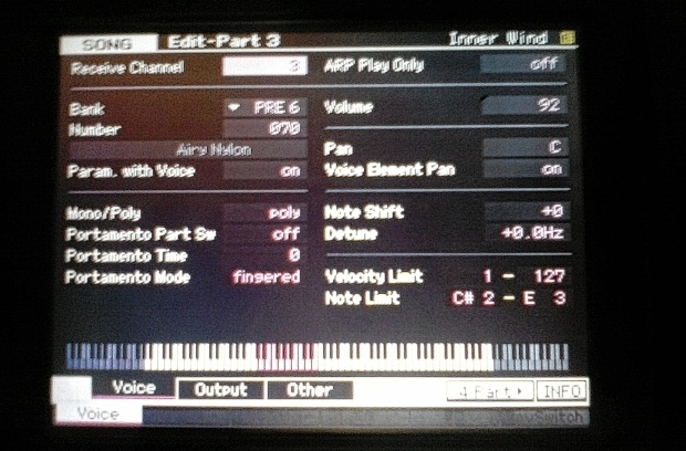 Yamaha Motif XF 8 Playing Multiple Instruments in Song Mode 3